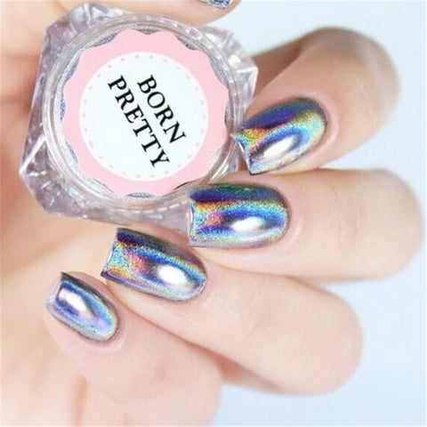0.5g/Box Holographic Laser Nail Glitters Holo Rainbow Nail Art Powder Nail Tip Chrome Dust Manicure Nail Art Decorations