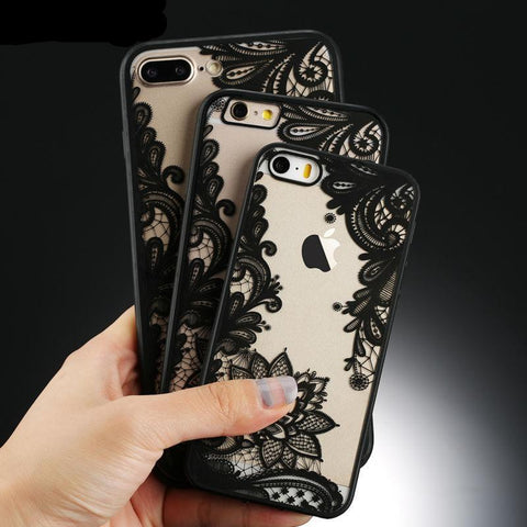 Sexy Retro Floral Phone Case Hard PC+TPU Cases