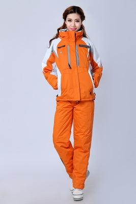 Ski suit set female lovers outdoor waterproof thermal thickening cold-proof ski suit
