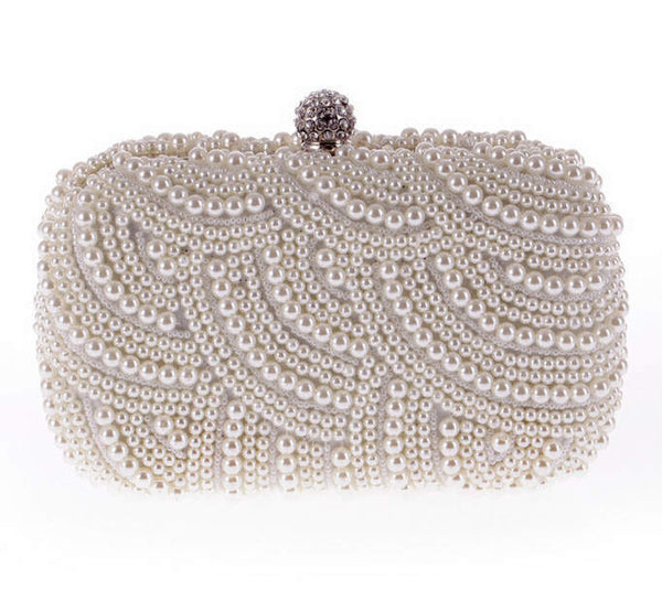 100% Hand made Luxury Pearl Clutch bags