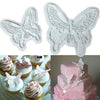 New 2pcs/Set Butterfly Cookie Plunger Cutters Mould