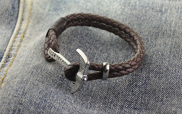 2016 New Fashion Design Vintage Personalized AX Hatchet Leather Bracelet For Women Men Accessories jewelry Gift Free Shipping