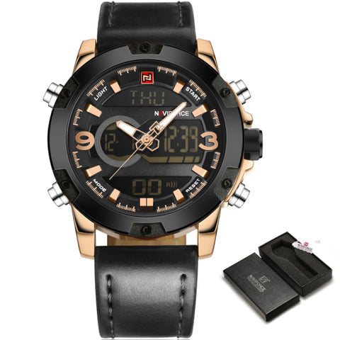 Luxury Men Sport Watches Quartz Clock Military Waterproof