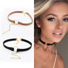 Small Circle Velvet Chokers Necklace Collar Rope