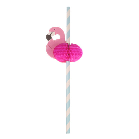 50pcs/set Paper Straws  with Flamingo