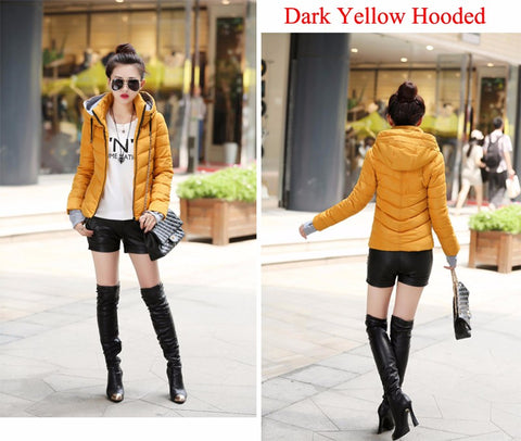 Winter Jacket women Plus Size hooded Coat