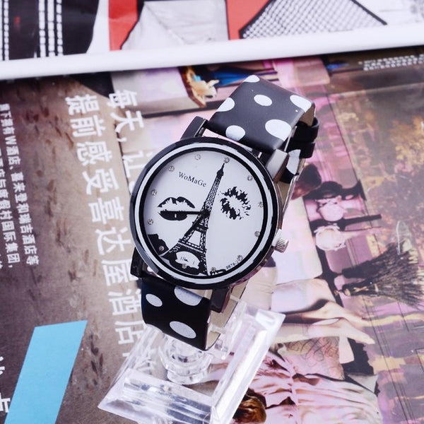 Eiffel Tower Watch Leather Women Watches
