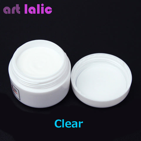 1pcs Nail Polymer Acrylic Powder Crystal Nail Art Tips Builder CLEAR PINK WHITE See Through Color