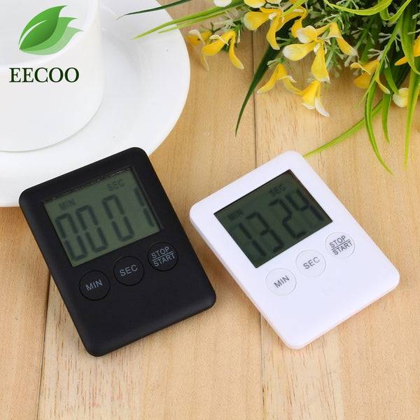 Square Large LCD Digital Kitchen Timer Cooking