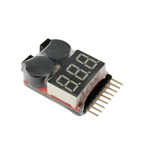 1-8S LED Lipo Voltage Indicator Checker Tester Low Voltage Buzzer Alarm YH-17