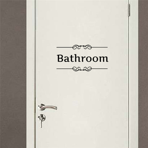 bathroom rules words wall stickers