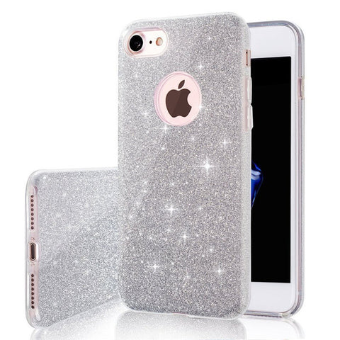 3 IN 1 Gradient Glitter Cover Clear PC+TPU