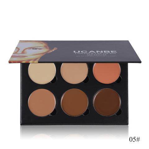 6 Colors Highlight Contour Palette