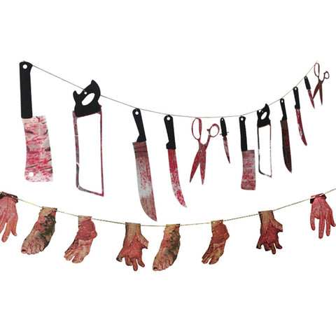 Horror Spooky Halloween Party Haunted House Hanging Garland Pendant Banner Decoration