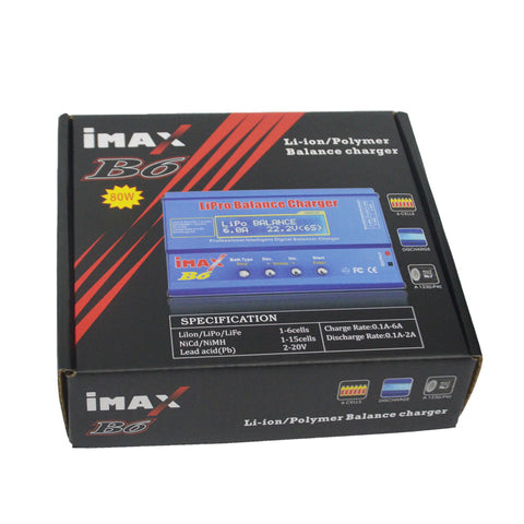 iMAX B6 80W 6A Digital RC Battery Balance Charger Discharger 50W 5A Optional for 1-6s Lipo life NiMh Li-ion Ni-Cd