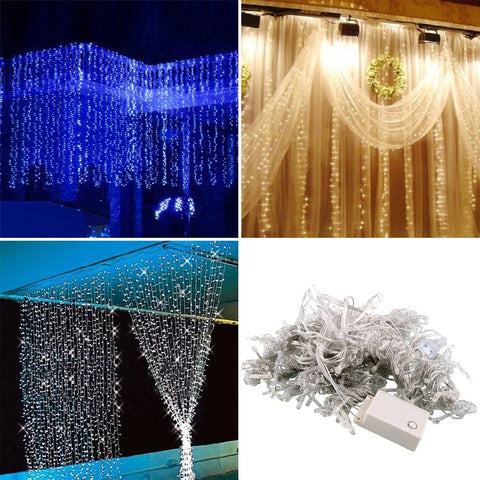 300LED Curtain Happy New Year Lights