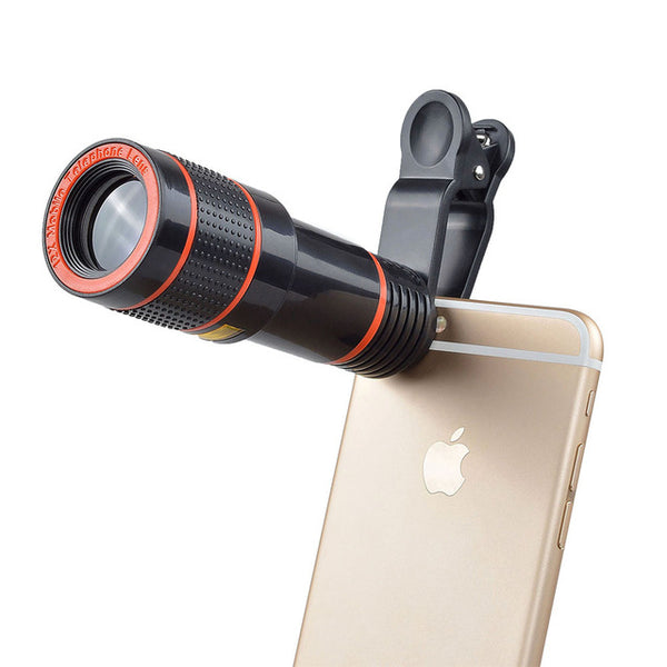 12X Zoom Mobile Phone Lens for iPhone 7 6S plus Samsung S7 S8 plus Smartphones Clip Telescope Camera Lens with Tripod APL-HS12X