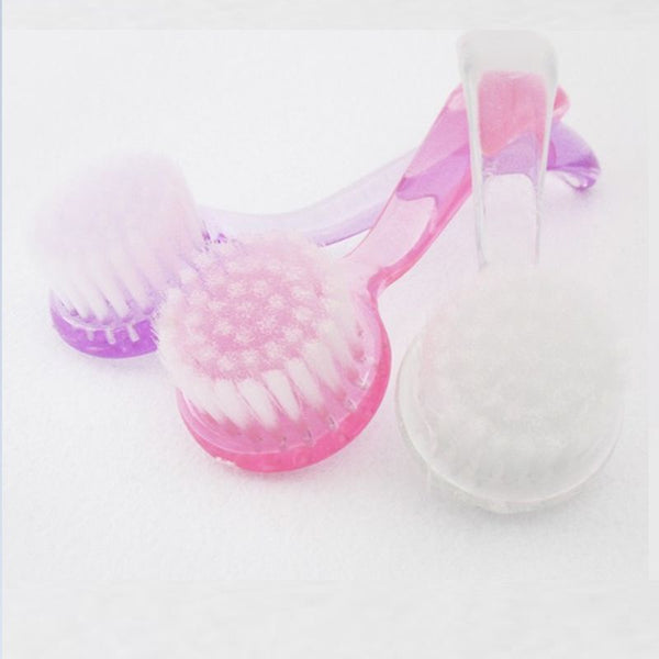 1 Pcs Plastic Nail Dust Clean Cleaning Brush Pedicure Round Head Cleaning Brush Nail Accesories Tools