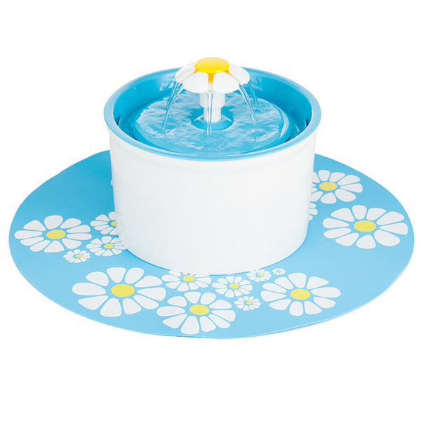 Flower Style Cat Dog Electric Fountain Bowl