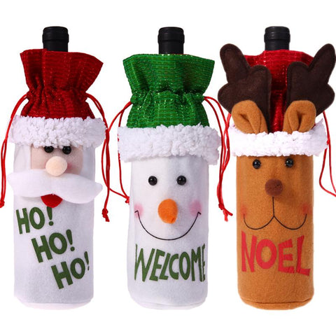 Christmas Wine Bottle Cover Pouch Bag