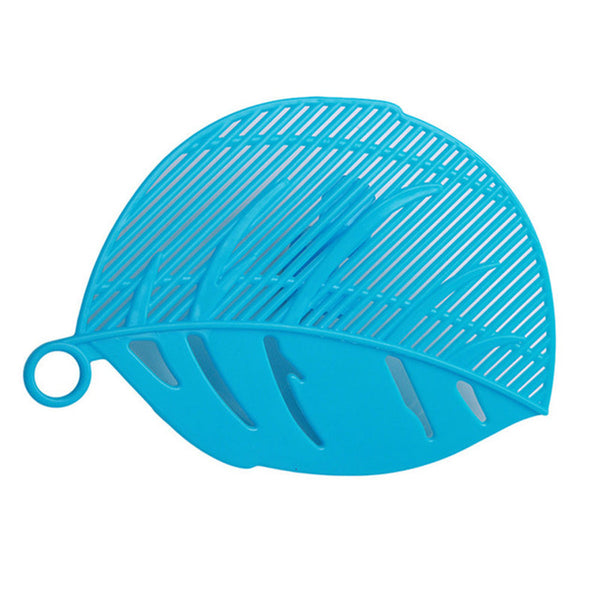 1PC Leaf Shape Durable Clean Rice Wash Sieve Beans