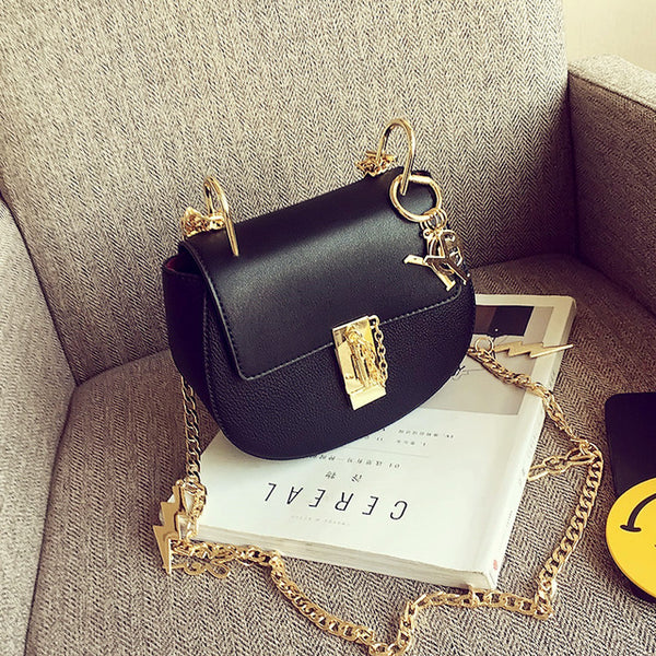 women's vintage small bags mini shoulder all-match bag with chain