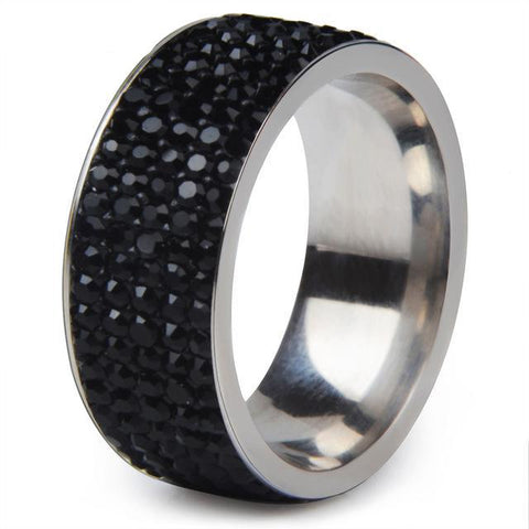 Crystal Stainless Steel Ring Women for Wedding