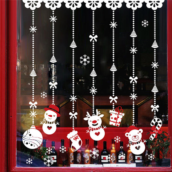 Snowman Christmas window sticker home wall stickers