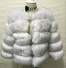 Winter Fashion Pink Faux Fur Coat Elegant