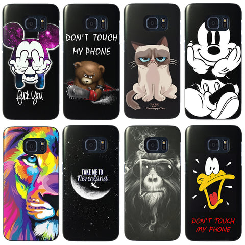 For Samsung Galaxy S7 S8 Plus Cartoon Painted Mobile Phone Case Hard Back Protective Coque Capa Fundas For Galaxy S7 Edge  Cover