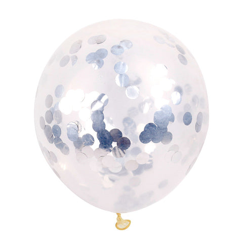 10pc 12inch 30cm Clear Confetti Balloon Latex
