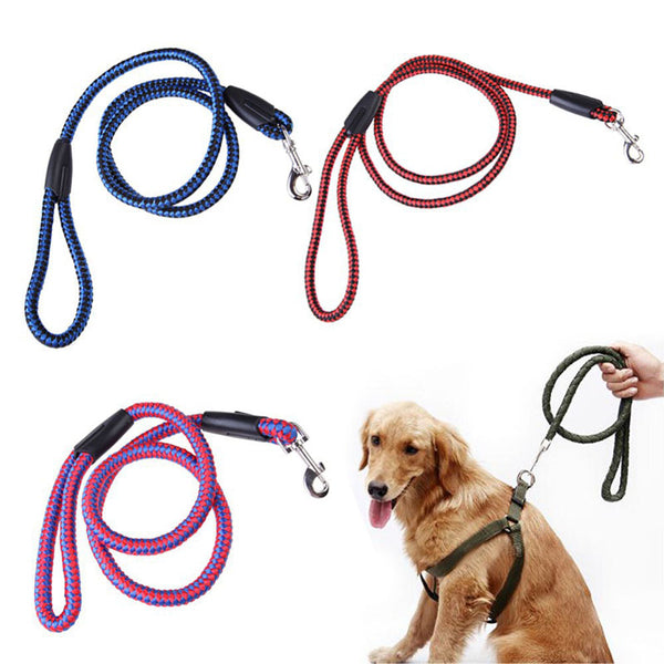 120cm Strong Pet Dog Braided Nylon Rope Soft and Comfortable Dogs Leash Lead Durable Heavy Duty For Small Pets
