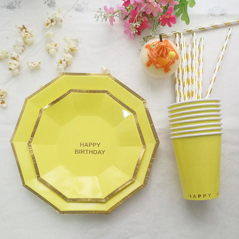 49pcs/lot Birthday Party Dinnerware Set