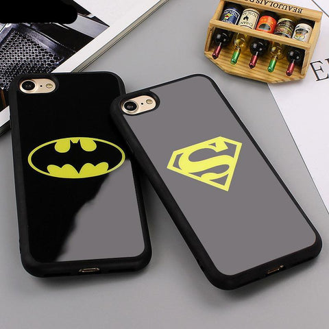Batman Superman Phone Silicone Mirror Case