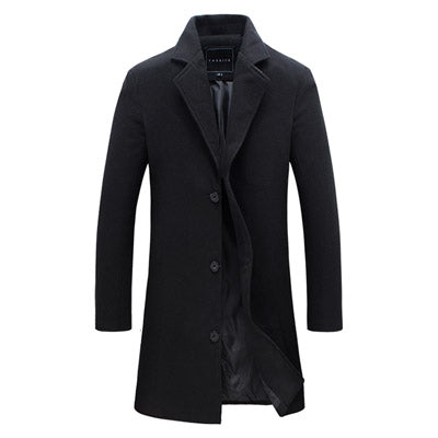 Men Fashion Jackets Men Slim Fits Coats Business Mens Long Winter Windproof Outwears Plus Size 5XL Black Hot Sale High Quality
