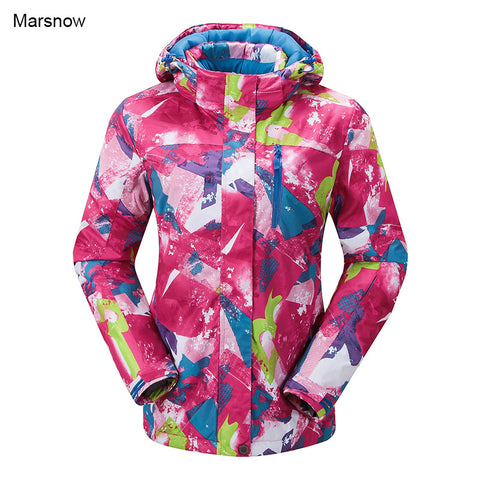 Marsnow Brand Women Winter Snowboard Jacket Ladies Snowboard Ski Jackets Clothes Windproof Waterproof Breathable Skiing Jackets