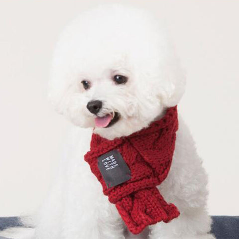 Warm Pet Scarf Winter Christmas