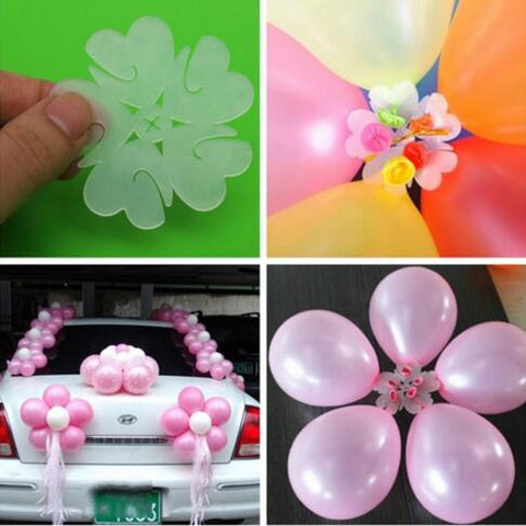 5pcs Plum Flower Shaped Balloon Clips