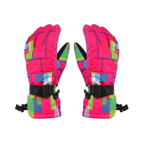 Women Ski gloves Windproof Waterproof Warm Cycling Ski Snow Snowmobile Motorcycle Snowboard Skiing Gloves Winter Outdoor
