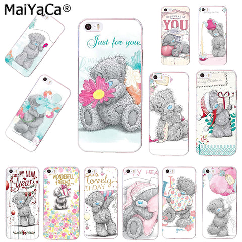 MaiYaCa silicone phone case for 6plus case Tatty Teddy Me To You Bear Soft Phone case Covers For iPhone 4 5s 6s 7 8plus cases