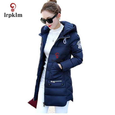 Women long sleeve hooded Parka Winter Plus Size