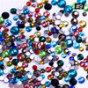 1 Bag Colorful Flatback Rhinestone Crystal Mixed Size Strass Stones DIY Manicure 3D Nail Art Decorations