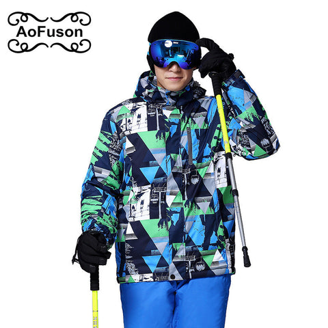 2018 New Brand Ski Jacket Men Waterproof Thermal Winter Climbing Snow Jacket Coat For Outdoor Mountain Skiing Snowboard Jackets