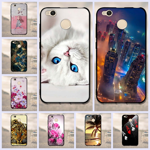 "3D Pattern Case For Xiaomi Redmi 4X Case 5.0"" Soft TPU Silicone Back Cover Cases For Xiaomi Redmi 4X Redmi 4 X Phone Case fundas"
