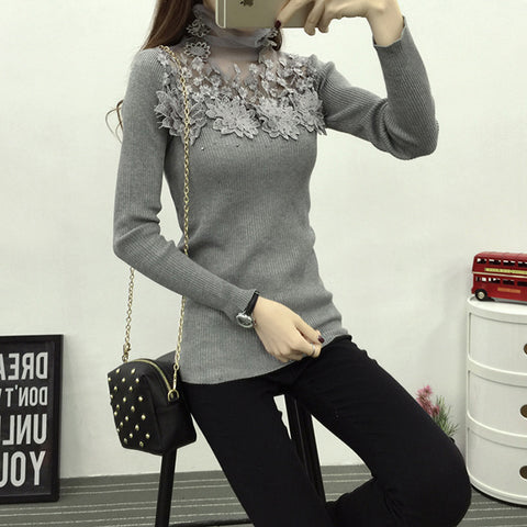 Fashion Knitted Sweater Long Sleeve