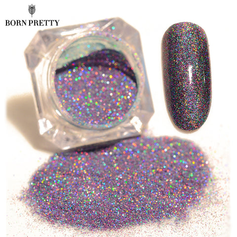 BORN PRETTY Starry Nail Power 1.5g Holographic Laser Glitters Dust Manicure Nail Art Decorations 9 Colors