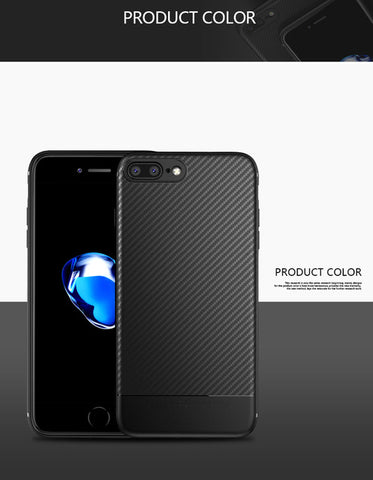 for iphone 7 plus 6 6s iphone8 Case Carbon Fiber Luxury Silicon Back Accessories 8Plus Cover Case for iphone 8 plus X cases 6 s