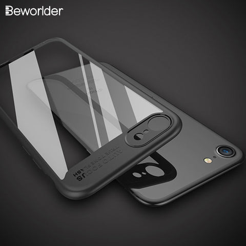 Beworlder Case For iphone 7 Plus iphone 8 Case Back Cover Full Protector Silicone Fitted Conque For Apple iphone 8 Plus Case