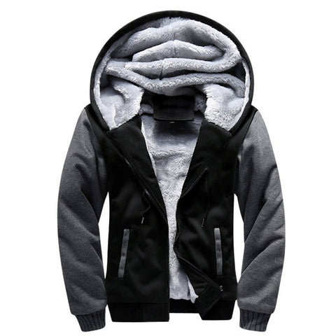 USA SIZE 2017 Men Winter Autumn Blank Pattern European Fashion Bomber Men Vintage Thick Fleece Jacket Men Winter Jackets Coat