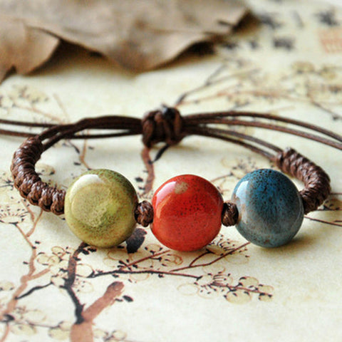 Vintage Beads Bracelet Handmade Woven Elegant  Bracelets & Bangles For Women Men Jewelry Fashion Accessory